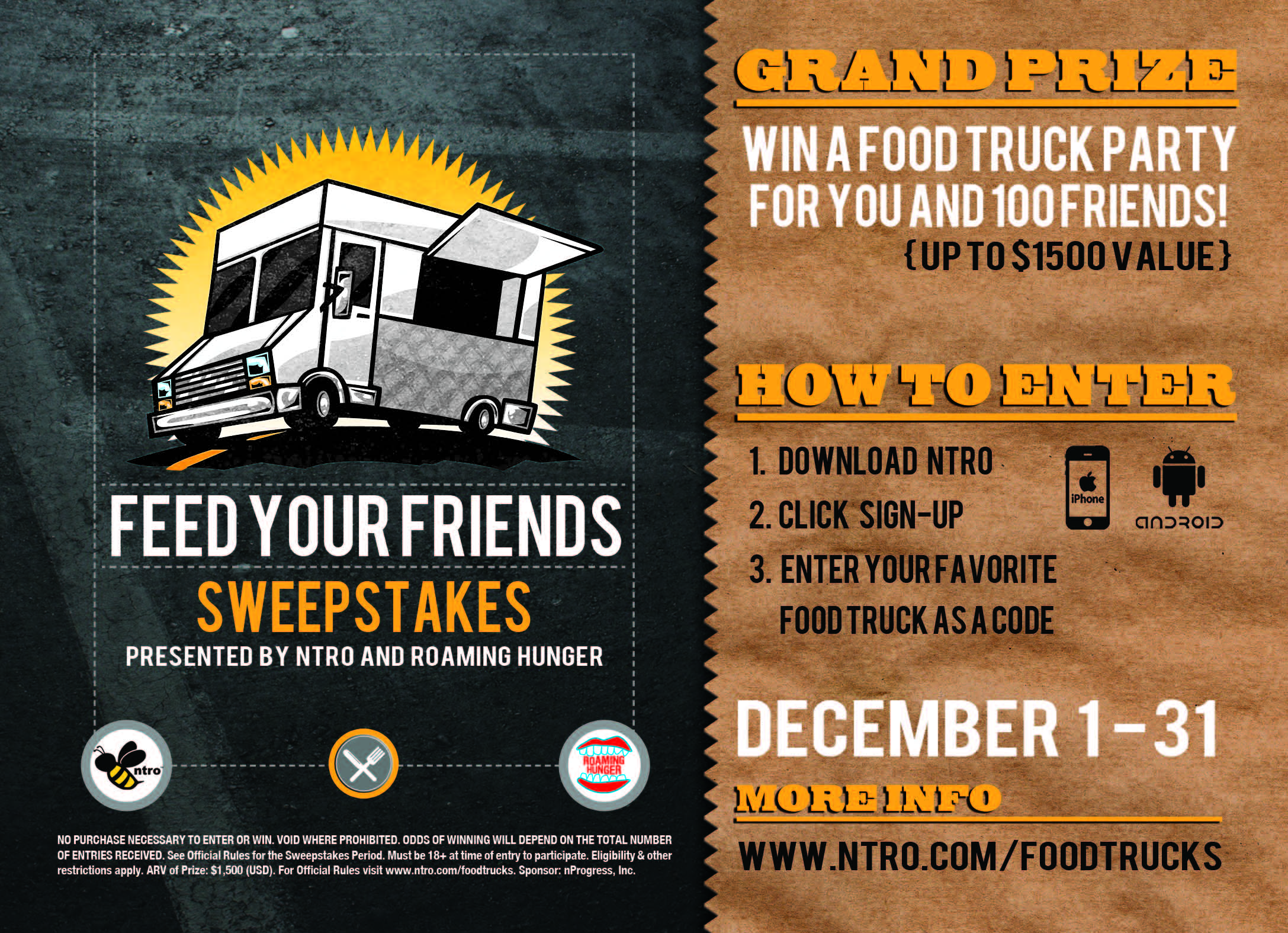 Feed Your Friends Giveaway Roaming Hunger