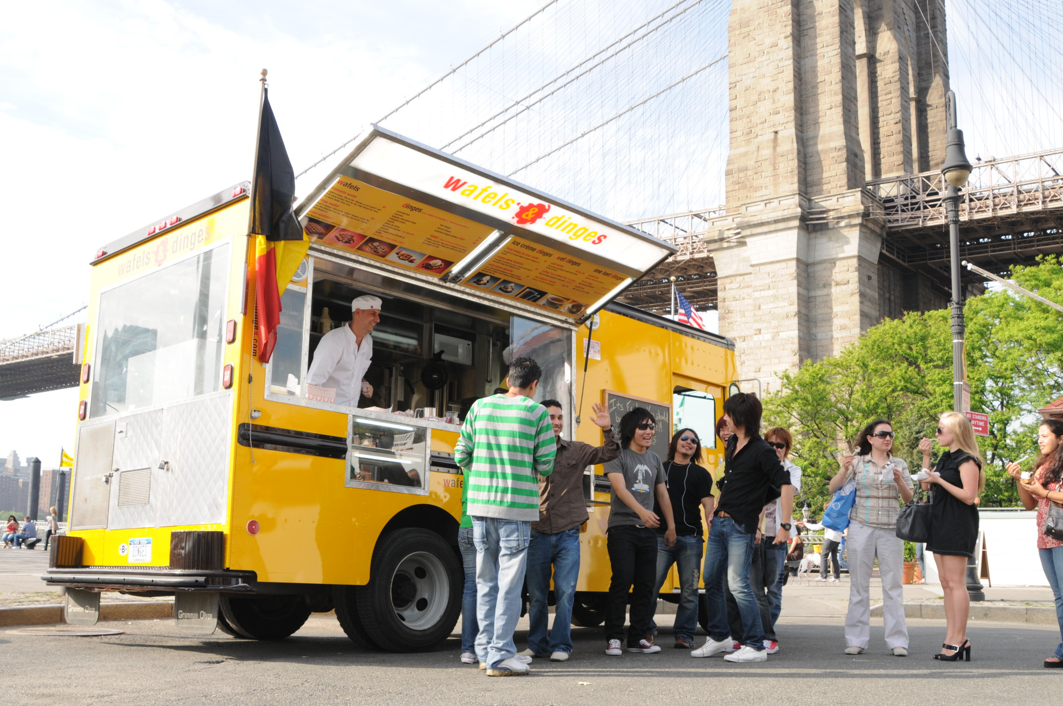 Image result for Wafels & Dinges food truck nyc