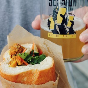 Lemongrass Curry Chicken Banh Mi Sandwich