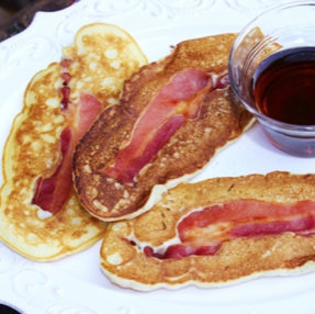 Bacon Wrapped Pancake Dippers