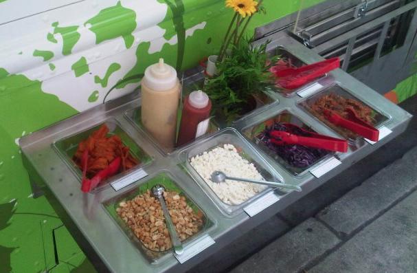 Liba Falafel toppings bar