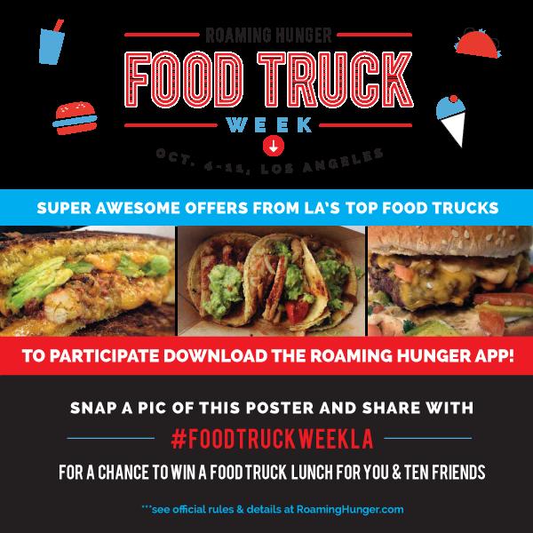 Food Truck Week LA Social Poster