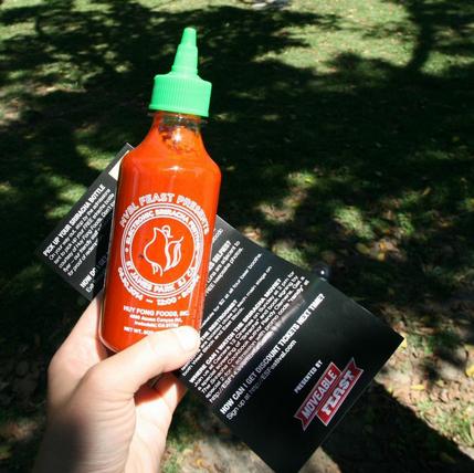 Custom Sriracha Bottles