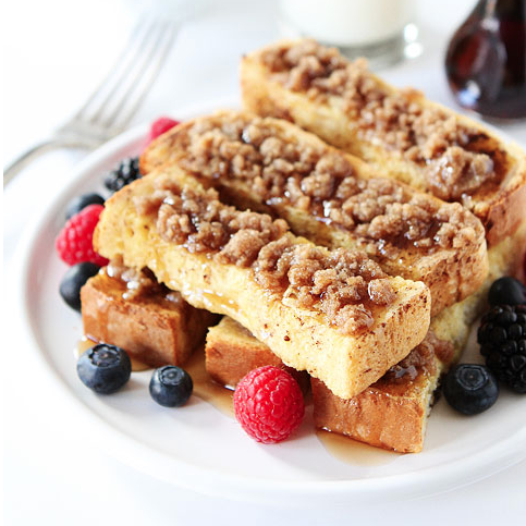 Cinnamon Streusel French Toast Sticks