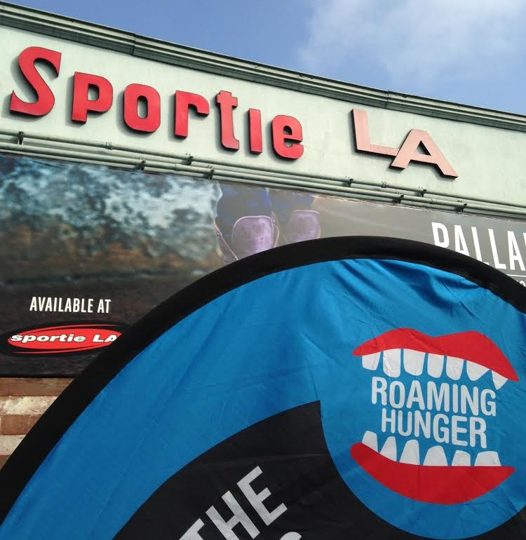 Roaming Hunger in front of Sportie LA