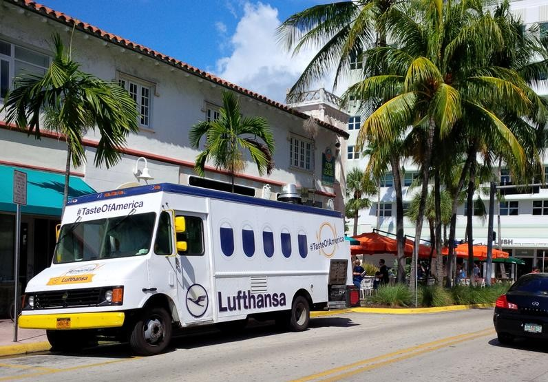Lufthansa Food Truck in Miami
