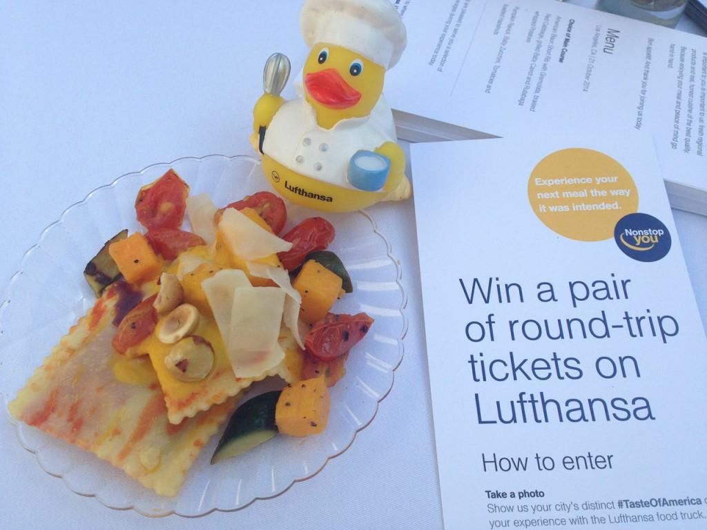 Lufthansa Pumpkin Ravioli