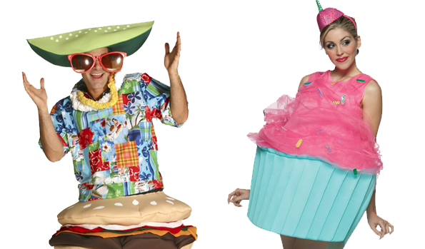 Hamburger Costume and Cupcake Costume