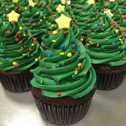 My Delight Cupcakery - Christmas Tree Cupcakes