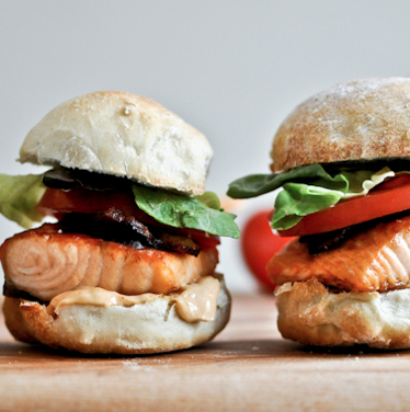 Crispy Salmon BLT with Chipotle Mayo