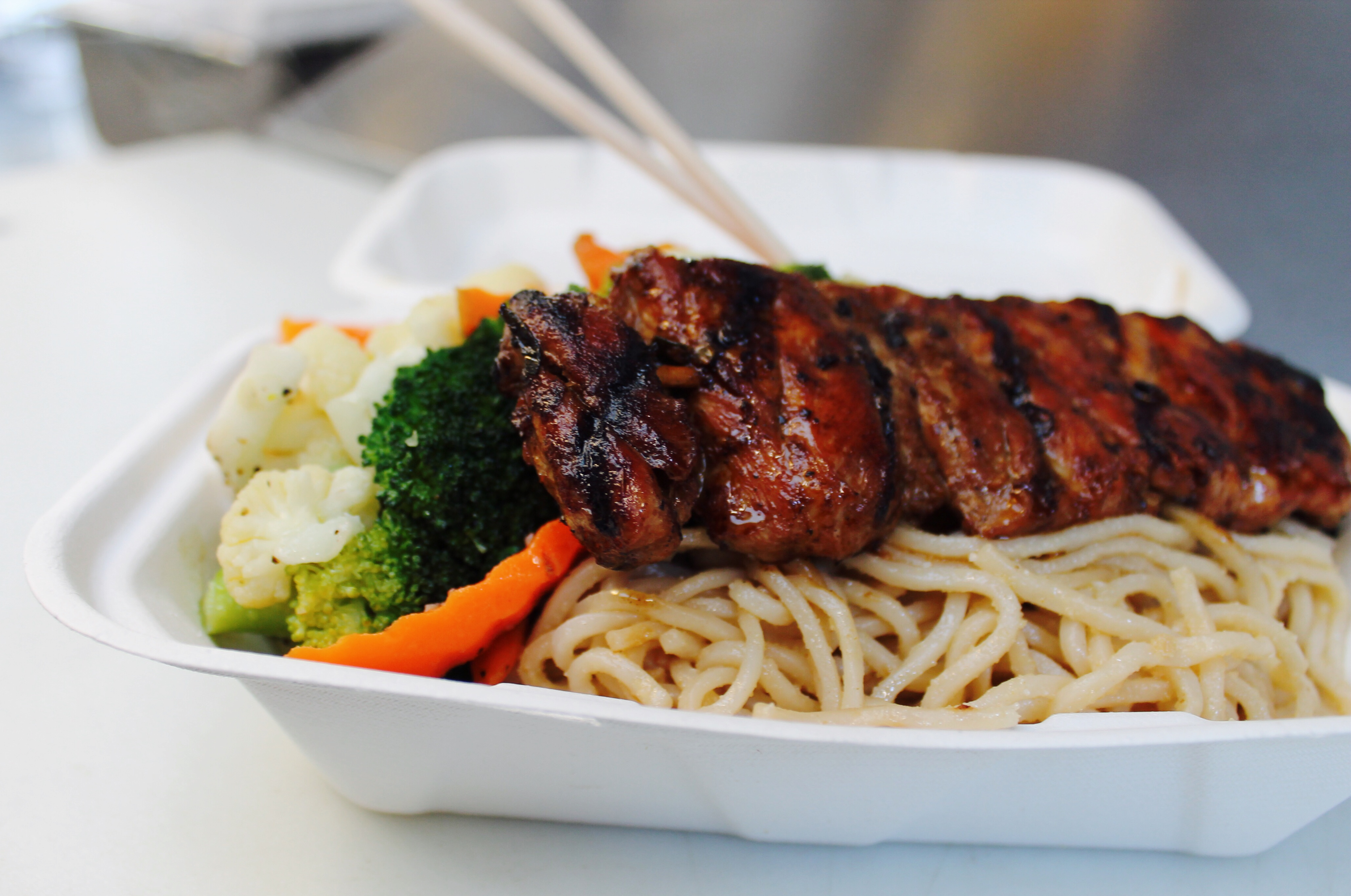 An the Go -Beef Skewer & Garlic Noodle