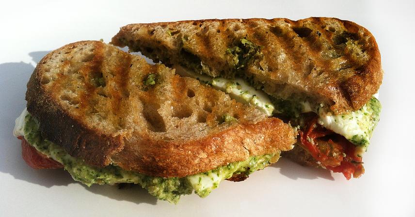 Farm Truck - Artichoke Pesto Caprese Sandwich