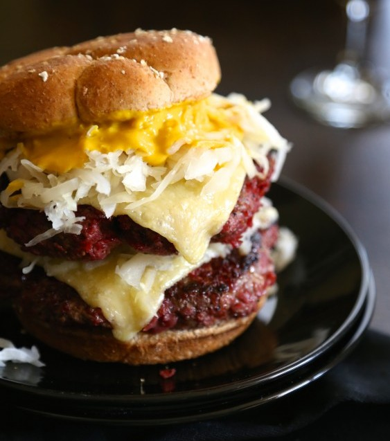 Corned Beef Burger with Irish Cheddar Cheese