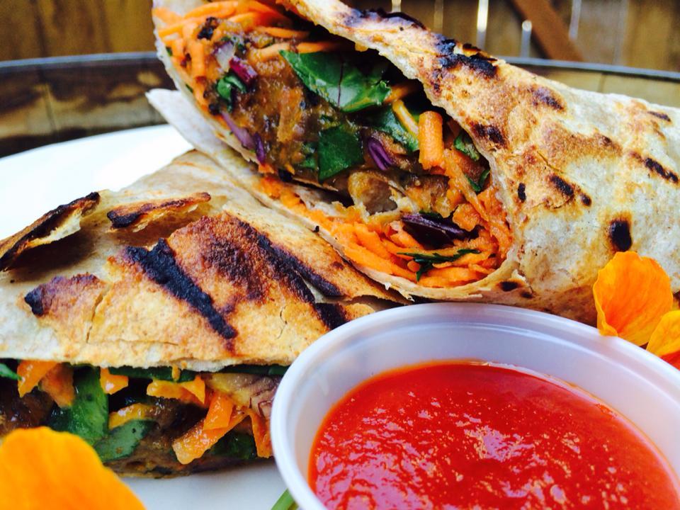 No Bones About It - Sweet Potato Falafel Wrap