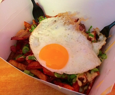 Frite Street Korean Frites topped with fried egg