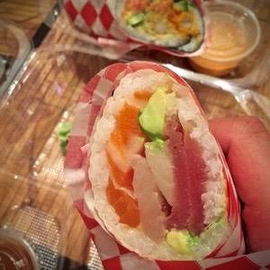 Kimbobrex - Sashimi Burrito