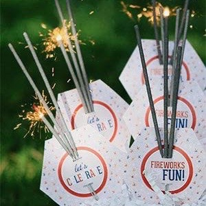 Sparkler Bar via Smile Box