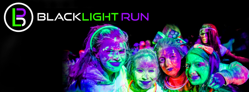 black light run