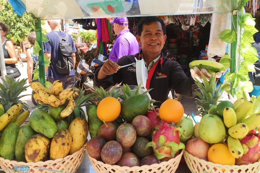 cambodian street vendor