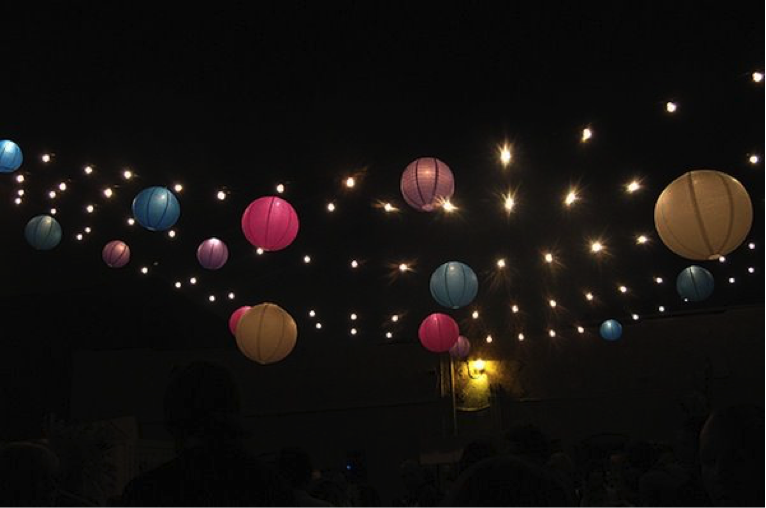 Party Balls and Stringed Lights