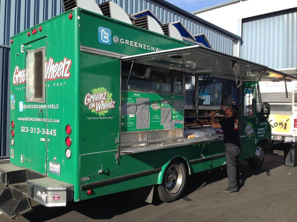 Greenz on Wheelz truck in Los Angeles