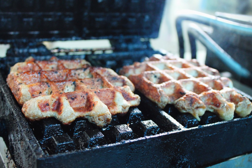 The waffle roost truck waffles