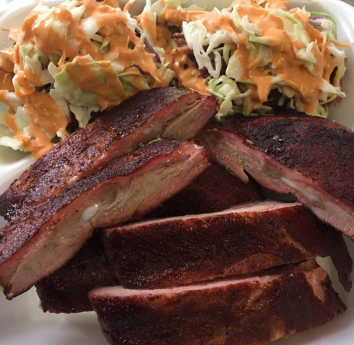 The Flying Pig BBQ Truck - Loaded Avocado & Ribs