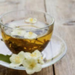 A warm cup of jasmine tea