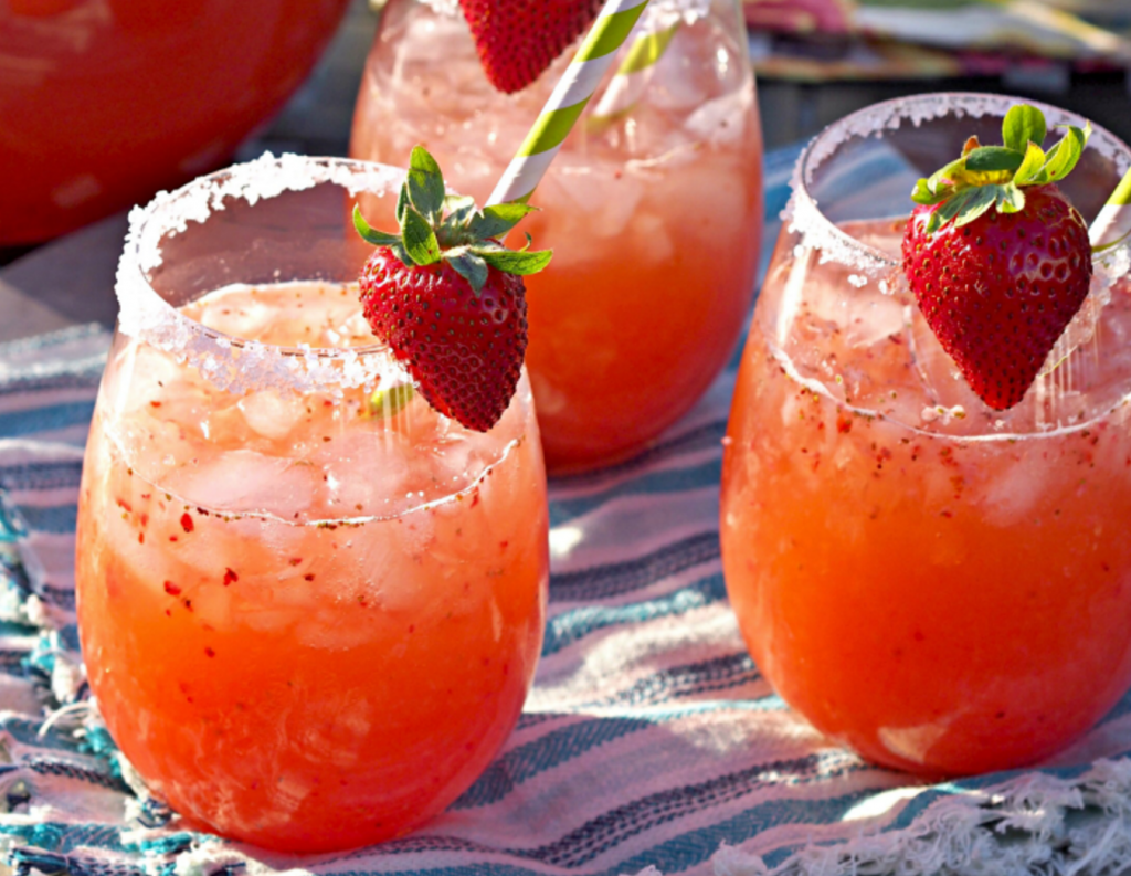 Strawberry Margarita Punch - Cinco de Mayo Drinks