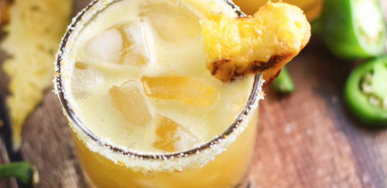 Grilled Pineapple Jalapeno Margarita - Cinco de Mayo Drinks