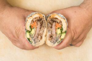 Chino burrito by chef Eric Greenspan